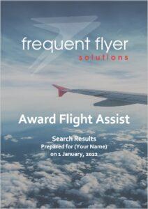 Award Flight Assist report sample